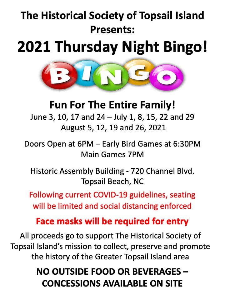 HSTI Bingo 2021 Poster